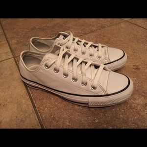 Converse All Star White Leather Shoes
